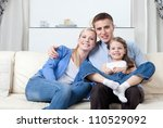 problem free family has a day... | Shutterstock . vector #110529092