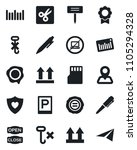 set of vector isolated black... | Shutterstock .eps vector #1105294328
