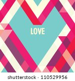 valentines day card  abstract... | Shutterstock .eps vector #110529956