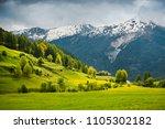 breathtaking view over summer...   Shutterstock . vector #1105302182