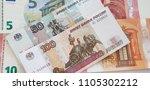 euro russian ruble | Shutterstock . vector #1105302212