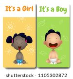 it's a boy and it's a girl... | Shutterstock .eps vector #1105302872