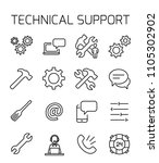 technical support related... | Shutterstock .eps vector #1105302902