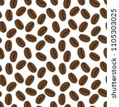 seamless pattern of the coffe....   Shutterstock .eps vector #1105303025