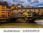 historic ponte vecchio bridge... | Shutterstock . vector #1105310915