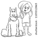 black and white cartoon... | Shutterstock .eps vector #1105312865