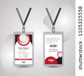 simple and clean red   black id ... | Shutterstock .eps vector #1105325558