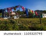 poor cuban houses in a... | Shutterstock . vector #1105325795