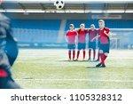 full length portrait of boys in ... | Shutterstock . vector #1105328312
