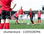 full length portrait of junior... | Shutterstock . vector #1105328396