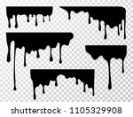 black dripping oil stain  sauce ... | Shutterstock .eps vector #1105329908
