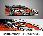 car decal vector  graphic... | Shutterstock .eps vector #1105335338