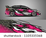 car decal vector  graphic... | Shutterstock .eps vector #1105335368