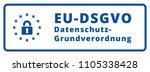 eu dsgvo sign illustration | Shutterstock .eps vector #1105338428