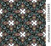 abstract mayan ornamental... | Shutterstock . vector #1105344695