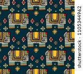 vintage graphic  indian lotus... | Shutterstock . vector #1105344962