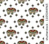 vintage graphic  indian lotus... | Shutterstock . vector #1105344965