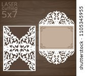 laser cut wedding invitation... | Shutterstock .eps vector #1105345955