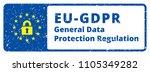 eu gdpr label illustration | Shutterstock .eps vector #1105349282