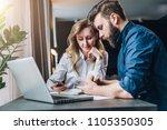 business meeting. teamwork.... | Shutterstock . vector #1105350305