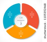 infographic circle chart.... | Shutterstock .eps vector #1105352468
