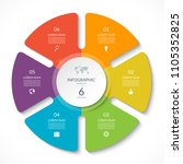 infographic circle chart.... | Shutterstock .eps vector #1105352825