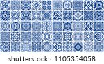 vector tiles patterns. seamless ...   Shutterstock .eps vector #1105354058