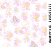 watercolor seamless floral... | Shutterstock . vector #1105358186