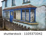 old abandoned house with... | Shutterstock . vector #1105373342
