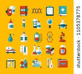 set of medicine icons and... | Shutterstock .eps vector #1105378775