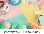 colorful celebration party... | Shutterstock . vector #1105380092