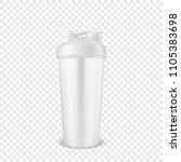 vector realistic 3d white empty ... | Shutterstock .eps vector #1105383698