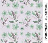 seamless floral botanical... | Shutterstock . vector #1105395008