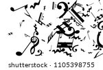musical notes on white... | Shutterstock .eps vector #1105398755
