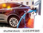 power supply for electric car... | Shutterstock . vector #1105399385