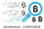 fractured find bitcoin dotted...   Shutterstock .eps vector #1105413818