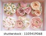 set of buttercream flower... | Shutterstock . vector #1105419068