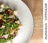 leaf vegetable salad with... | Shutterstock . vector #1105426268