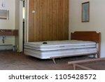 Stock photo room in an abandoned roadside motel 1105428572