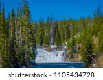 outdoor view of small waterfall ... | Shutterstock . vector #1105434728