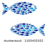 fish fish pair composition in...   Shutterstock .eps vector #1105435352