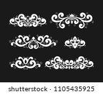 set of vintage calligraphic... | Shutterstock .eps vector #1105435925