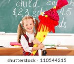 child holding school cone... | Shutterstock . vector #110544215