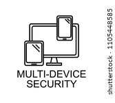 multi device security outline... | Shutterstock .eps vector #1105448585
