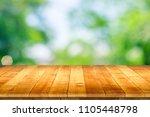 empty wooden table perspective... | Shutterstock . vector #1105448798