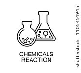 chemicals reaction outline icon.... | Shutterstock .eps vector #1105454945