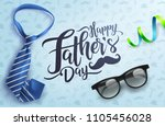 flat lay style of happy father... | Shutterstock .eps vector #1105456028