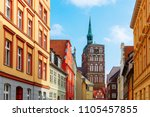 cityscape of the old town of... | Shutterstock . vector #1105457855