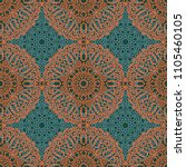 seamless ethnic pattern with... | Shutterstock .eps vector #1105460105