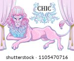chic style decorative pink... | Shutterstock .eps vector #1105470716